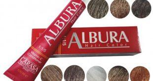 انواع رنگ موی آلبورا